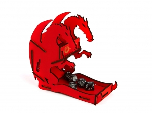 e-Raptor Dice Tower - Dragon Red Small